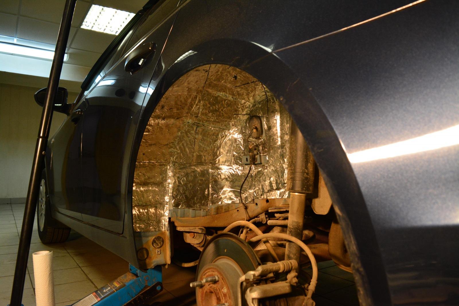 Шумоизоляции колесных арок своими руками 779