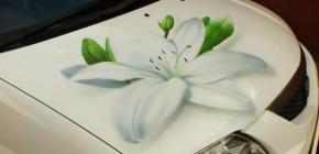 Рисуем краской на кузове автомобиля методом временной аэрографии