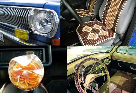 Украсить советский автомобиль было чем и снаружи, и внутри, однако выбор аксессуаров был весьма скромным.