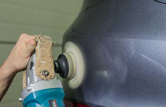 Как заполировать царапину на автомобиле