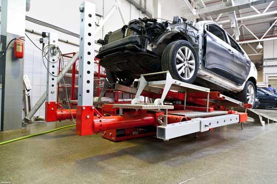 Стапель восстановления геометрии кузова — оборудование полезное, однако позволить его могут только крупные СТО.