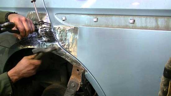 Рихтовка при помощи наваренных шайб получила широкое распространение в кузовном ремонте, а сегодня даже появилось специальное оборудование для их установки (споттер).