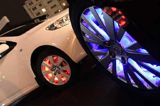 LED-подсветка колес автомобиля как часть светового тюнинга