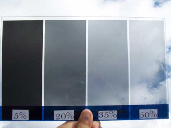 Градация тонировки автомобильных стекол