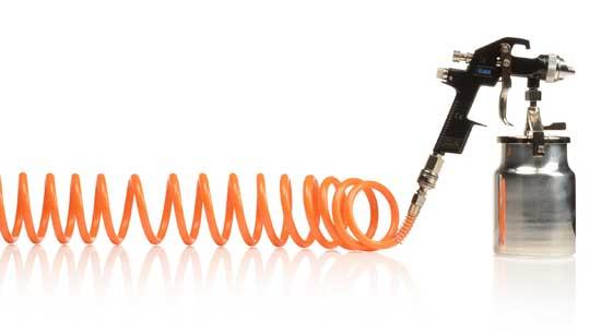 Спиральный шланг для подключения к компрессору