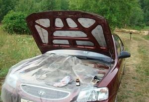 Шумоизоляция под капот автомобиля
