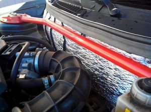 shumoizolyaciya motornogo - Шумоизоляция моторного щита со стороны двигателя