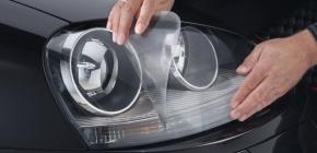 Как наклеить пленку на автомобильные фары