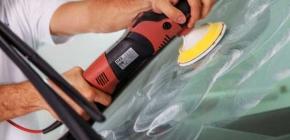 Шлифовка и полировка автомобильных стекол абразивными кругами 3М