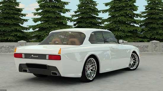 Трехмерное моделирование позволяет создавать концепты на основе любого автомобиля, в том числе и Москвича.
