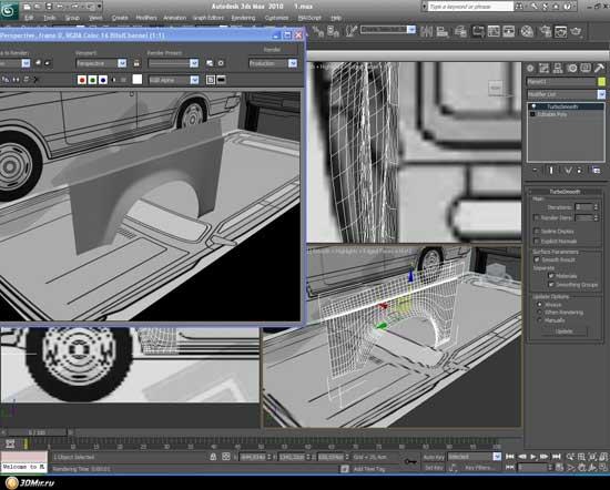 Трехмерное моделирование сильно помогает в разработке дизайна при тюнинге автомобилей, экономя время и средства.