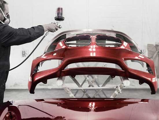 Красный цвет является одним из самых сложных в подборе, особенно если речь идет о краске с эффектом металлик