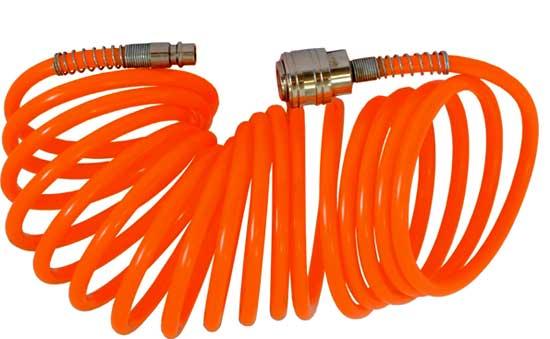 Гибкий спиральный пневмопровод, подходит для подсоединения краскопульта.
