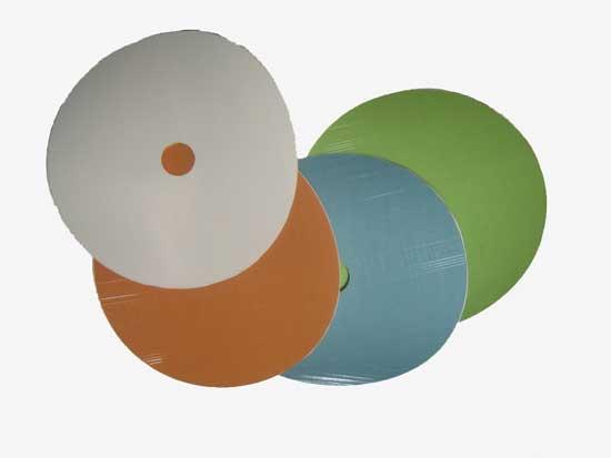 Абразивные круги для обработки стекла имеют клейкую основу для крепления к оправке шлифмашины
