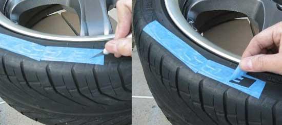 Трафаретный способ покраски шин