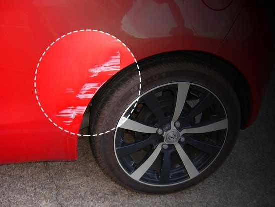 Незначительные повреждения краски кузова желательно фотографировать перед ремонтом