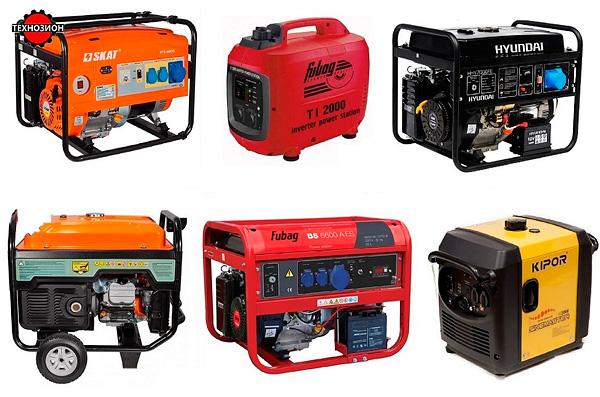 Разнообразные модели бензиновых электрогенераторов